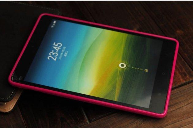 Фирменная ультра-тонкая полимерная из мягкого качественного силикона задняя панель-чехол-накладка для Xiaomi Mipad 7.9 розовый