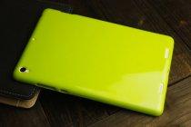 Фирменная ультра-тонкая полимерная из мягкого качественного силикона задняя панель-чехол-накладка для Xiaomi Mipad 2/3 лимонно-жёлтая