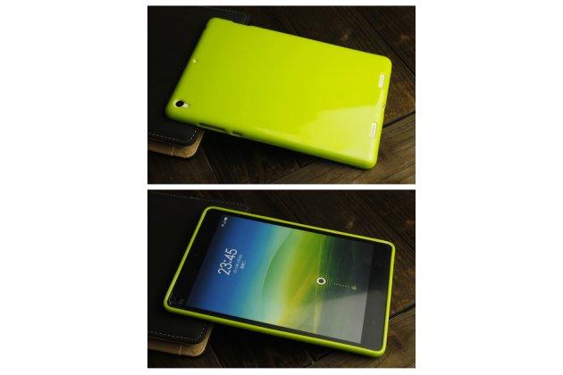 Фирменная ультра-тонкая полимерная из мягкого качественного силикона задняя панель-чехол-накладка для Xiaomi Mipad 7.9 лимонно-жёлтая
