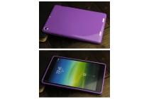 Фирменная ультра-тонкая полимерная из мягкого качественного силикона задняя панель-чехол-накладка для Xiaomi Mipad 2/3 розовый