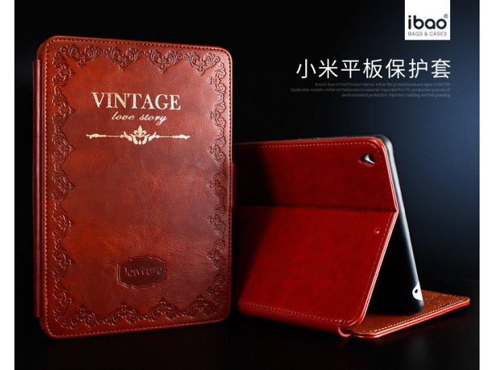 Фирменный чехол-обложка для Xiaomi Mipad из высококачественной натуральной итальянской кожи класса премиум Вин..