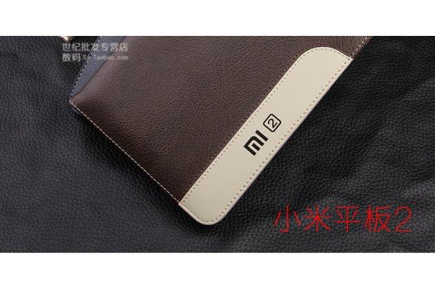 Фирменный оригинальный подлинный чехол с логотипом для Xiaomi Mipad 2/3/ MiPad 2 Windows Edition коричневый