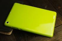 Фирменная ультра-тонкая полимерная из мягкого качественного силикона задняя панель-чехол-накладка для Xiaomi Mipad 2 лимонно-жёлтая