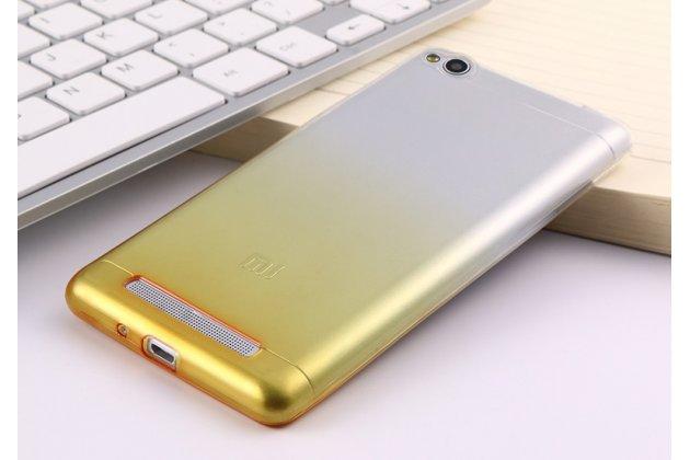 Фирменная ультра-тонкая полимерная задняя панель-чехол-накладка из силикона для Xiaomi Redmi 4A 2Gb 16Gb 5.0 прозрачная с эффектом песка