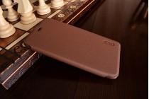 Фирменный чехол-футляр-книжка для Xiaomi Redmi Note 3 Pro SE (Special Edition) / 152.5 мм / Android 6.0 коричневый кожаный