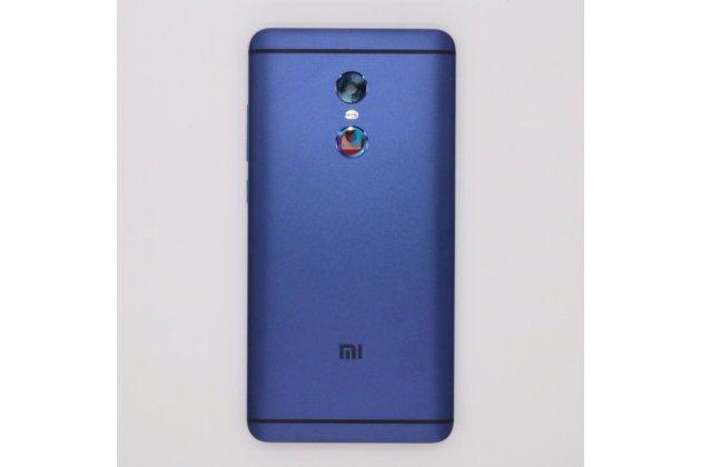 Родная оригинальная задняя крышка-панель которая шла в комплекте для Xiaomi Redmi Note 4 синяя