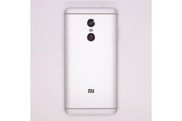 Родная оригинальная задняя крышка-панель которая шла в комплекте для Xiaomi Redmi Note 4 серебристая