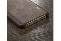 Фирменная премиальная элитная крышка-накладка из тончайшего прочного пластика и качественной импортной кожи  для Xiaomi Redmi Note 4 Ретро под старину коричневая