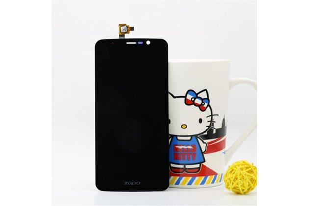 Фирменный LCD-ЖК-сенсорный дисплей-экран-стекло с тачскрином на телефон Zopo Speed 7 черный + гарантия