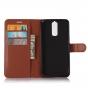 Фирменный чехол-книжка из качественной импортной кожи с подставкой застёжкой и визитницей для ZTE Blade A610 P..
