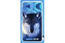 Фирменная роскошная задняя панель-чехол-накладка из мягкого силикона с объемным  3D изображением  на ZTE Blade L110 c с безумно красивым рисунком Тематика Ночной волк