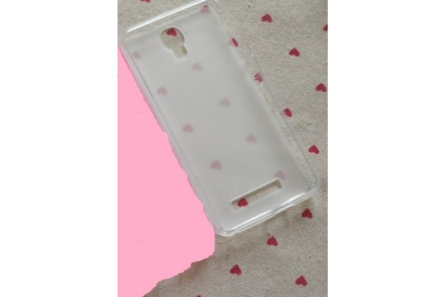 Фирменная ультра-тонкая полимерная из мягкого качественного силикона задняя панель-чехол-накладка для ZTE Blade L110 белая