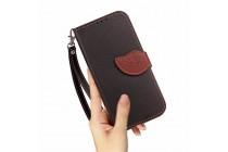 Фирменный чехол-футляр-книжка для ZTE Blade L110 черный