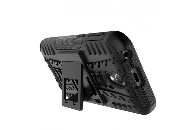 Неубиваемый водостойкий противоударный водонепроницаемый грязестойкий влагозащитный ударопрочный фирменный чехол-бампер для ZTE Blade L110 черный