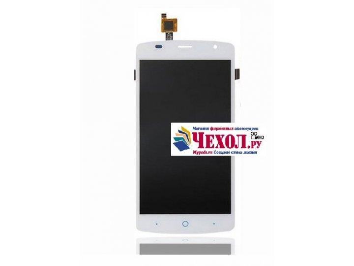 Фирменный LCD-ЖК-сенсорный дисплей-экран-стекло с тачскрином на телефон ZTE Blade L5 Plus / ZTE Blade L5 белый..