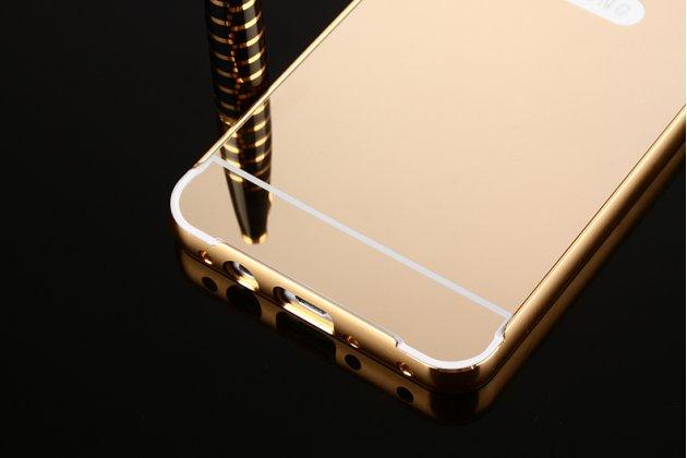 Фирменная металлическая задняя панель-крышка-накладка из тончайшего облегченного авиационного алюминия для ZTE Blade L5 Plus / ZTE Blade L5 золотое