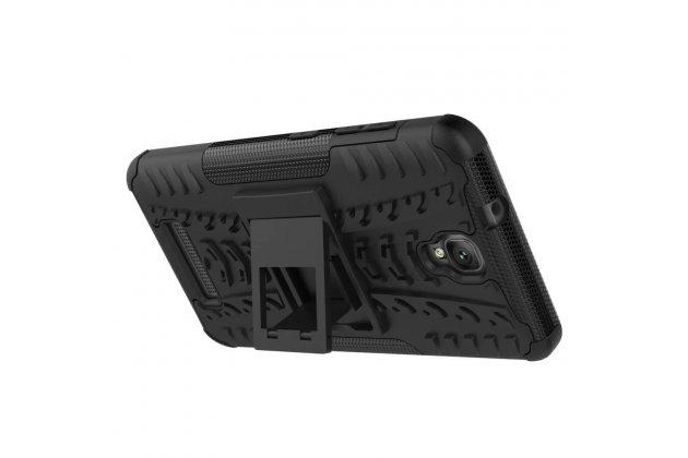Противоударный усиленный ударопрочный фирменный чехол-бампер-пенал для ZTE Blade L5 Plus / ZTE Blade L5 черный