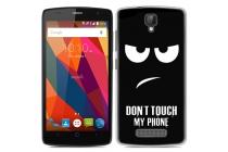 """Фирменная роскошная задняя панель-чехол-накладка из мягкого силикона с объемным  3D изображением  на ZTE Blade L5 Plus / ZTE Blade L5 с безумно красивым рисунком  Тематика """"Do not touch my phone"""""""