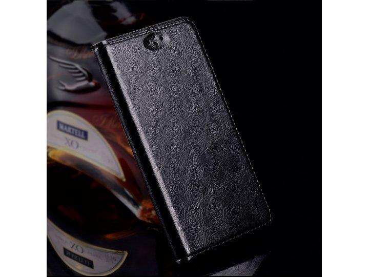 Фирменный премиальный элитный чехол-книжка из качественной импортной кожи с мульти-подставкой для ZTE Blade V7..