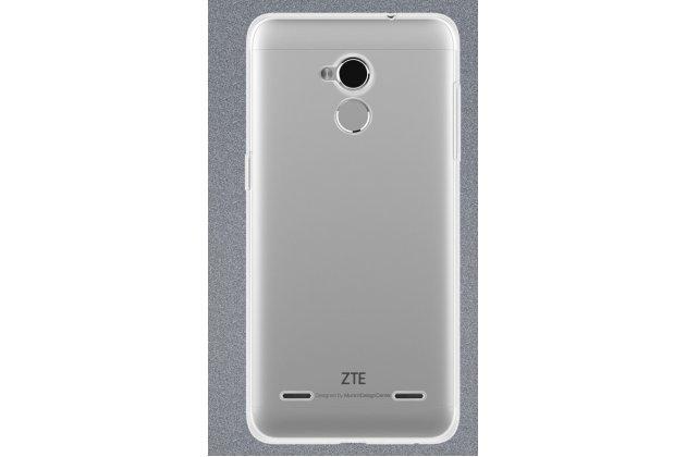 Фирменная ультра-тонкая полимерная из мягкого качественного силикона задняя панель-чехол-накладка для ZTE Blade V7 Lite (BV0720) прозрачная