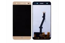 Фирменный LCD-ЖК-сенсорный дисплей-экран-стекло в сборе с тачскрином на телефон ZTE Blade V7 Lite (BV0720) золотой + гарантия