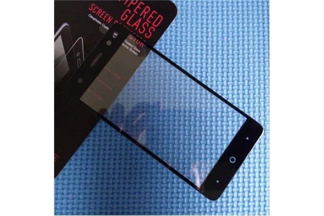 Фирменное 3D защитное изогнутое стекло с закругленными изогнутыми краями которое полностью закрывает экран / дисплей по краям с олеофобным покрытием для ZTE Blade V7 Lite (BV0720)