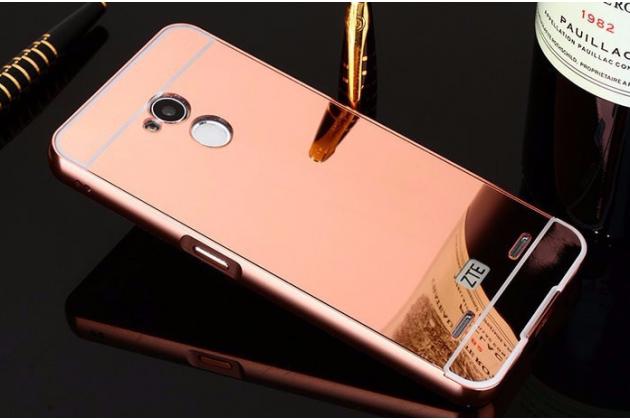 Фирменная металлическая задняя панель-крышка-накладка из тончайшего облегченного авиационного алюминия для ZTE Blade V7 Lite (BV0720) розовое золото