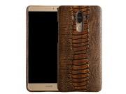 Фирменная роскошная эксклюзивная накладка с объёмным 3D изображением рельефа кожи крокодила коричневая для ZTE..