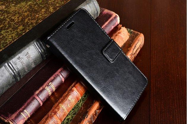 Фирменный чехол-книжка из качественной импортной кожи с мульти-подставкой застёжкой и визитницей для ZTE Nubia Z11 mini S 5.2 черный