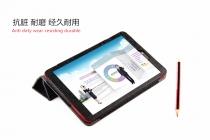 Фирменный чехол-футляр-книжка с узором для Dell Venue 8 android 3830 черный кожаный