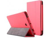 Фирменный чехол-футляр-книжка с узором для Dell Venue 8 android 3830 красный кожаный..