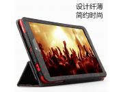 Фирменный чехол-футляр-книжка с узором для Dell Venue 8 android 3830 черный кожаный..