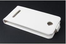Фирменный оригинальный вертикальный откидной чехол-флип для CUBOT C9+ / C9W черный из натуральной кожи Prestige Италия