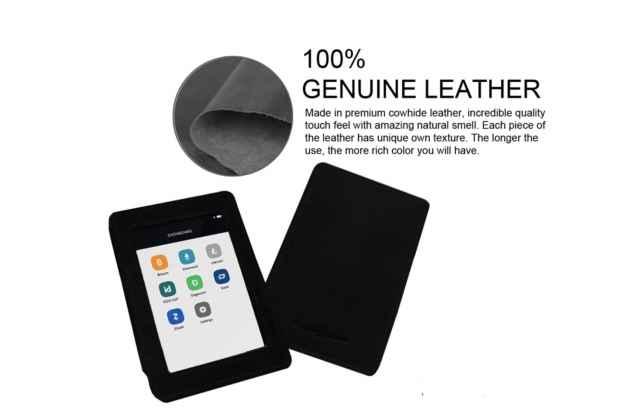 Фирменный чехол-сумка-кожух-кобура из качественной импортной кожи для Ledger Blue