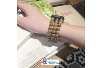 Необычный красивый деревянный-обсидиановый ремешок-браслет премиум-класса для Apple Watch Series 2 38/42mm с уникальным дизайном