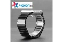 Фирменный сменный керамический ремешок для умных смарт-часов Apple Watch Series 2 38/42mm с металлическим замком-застежкой и дизайном в стиле «Керамика»