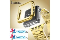 Фирменный защитный бампер-чехол из тончайшего и прочного пластика для Apple Watch Series 2 38/42mm с противоударными свойствами и усиленной защитой углов