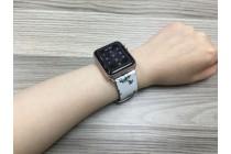 Женский необычный кожаный ремешок для Apple Watch Series 2 38/42mm с красивым рисунком тематика «Сады Британии»