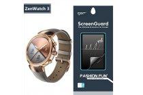 Фирменная оригинальная защитная пленка для умных смарт-часов ASUS ZenWatch 3 (WI503Q) глянцевая