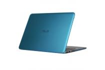 Фирменный ультра-тонкий пластиковый чехол-футляр-кейс для ноутбука ASUS ZENBOOK UX305CA голубого цвета