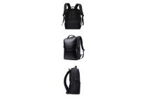 Чехол-сумка-рюкзак вместительный для Xiaomi Mi Notebook Air 12.5 из качественной импортной кожи черного цвета