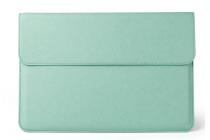 Фирменный оригинальный чехол-клатч-сумка для Xiaomi Mi Notebook Air 12.5 из качественной импортной кожи мятный цвет