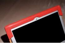 Фирменный чехол-обложка для Xiaomi Mi Notebook Air 12.5 красного цвета из импортной кожи