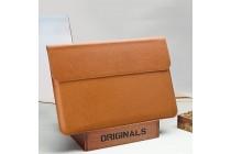 Фирменный оригинальный чехол-клатч-сумка для Xiaomi Mi Notebook Air 12.5 из качественной импортной кожи коричневого цвета