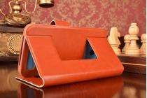Чехол-футляр для Micromax 093 с двумя окошками для входящих вызовов и свайпом из импортной кожи с внутренним защитным силиконовым бампером. Цвет в ассортименте.