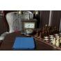 Фирменный чехол для Asus Transformer Pad TF300/TF300TG/TF300TL синий кожаный