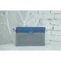 Фирменный чехол для Asus Transformer Pad TF300/TF300TG/TF300TL синий кожаный..