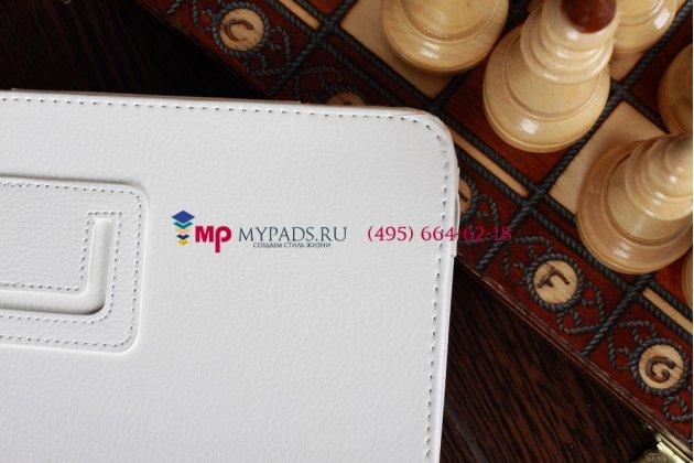 Фирменный чехол-обложка для Acer Iconia Tab A210/A211 белый кожаный