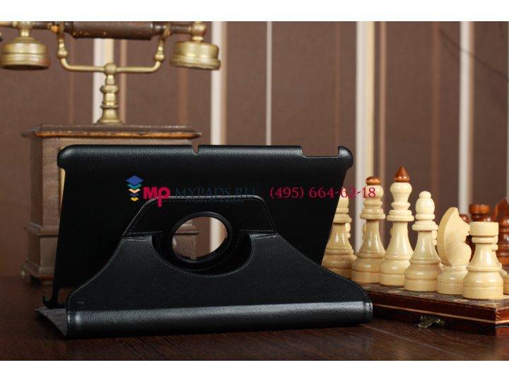 Фирменный оригинальный чехол для Acer Iconia Tab A200/A201 поворотный черный кожаный..