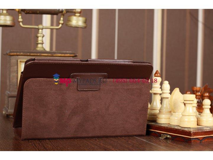 Чехол-обложка для Acer Iconia Tab A200/A201 коричневый кожаный..